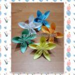 Fiori a 5 petali in origami